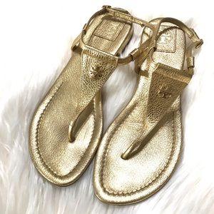 {Tory Burch} Britton Flat Thong Sandals - Gold